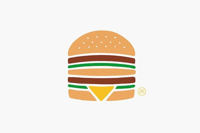 Burger Mc Do - Campagne minimaliste