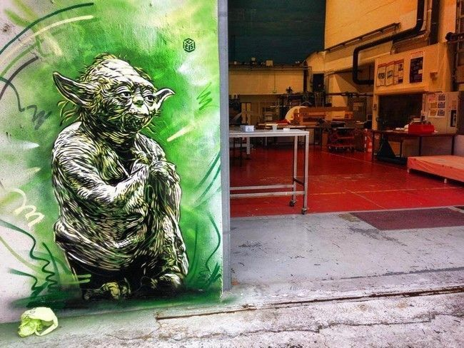 Yoda par C215 pour le CEA