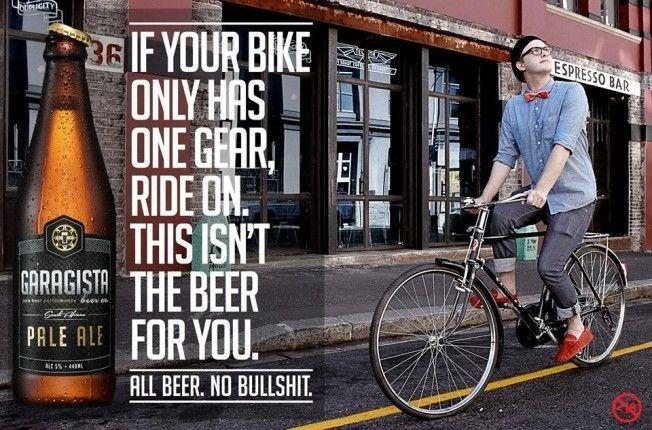 biere garagista velo hipsters