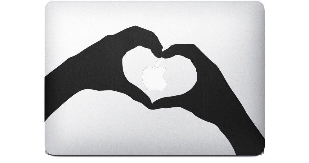 apple macbook sticker coeur