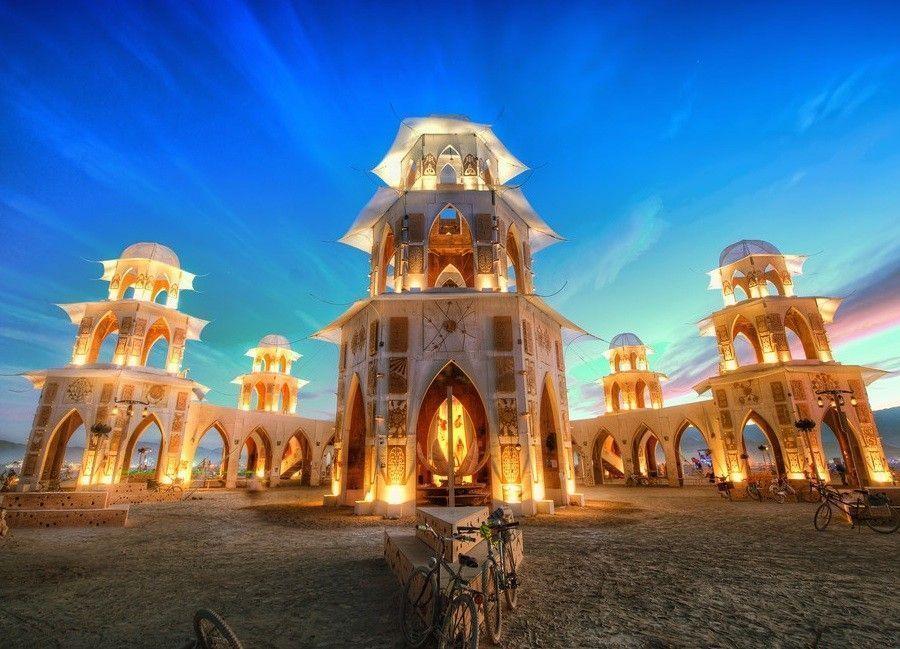 burning man festival tower