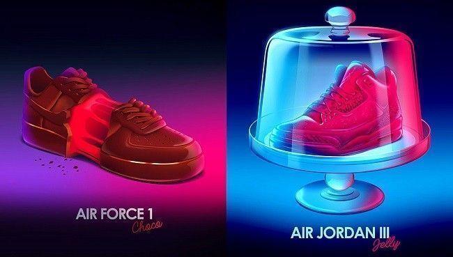 Romain-Trystram-affiche-air-force-choco-jordan-jelly