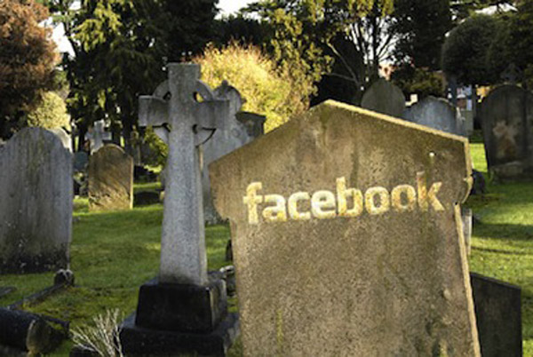 facebook tombe