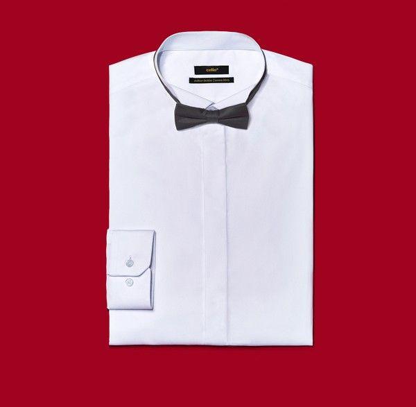 celio chemise et noeud pap noir