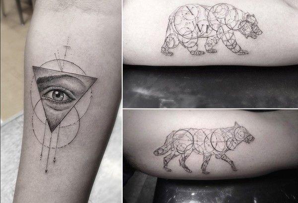 géométrie tatouage