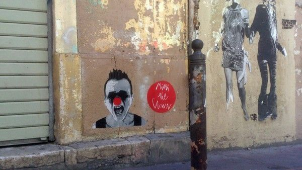 street art mimi the clown