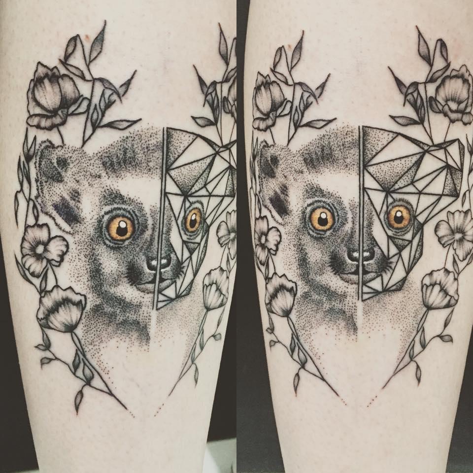lémurien tatouage