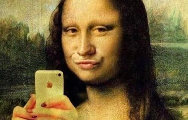 joconde selfie