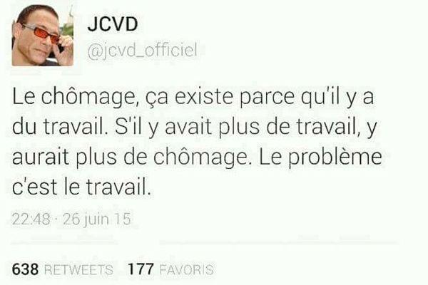Jean Claude Van Damme chômage