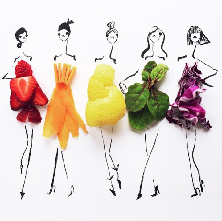 dessins aliments