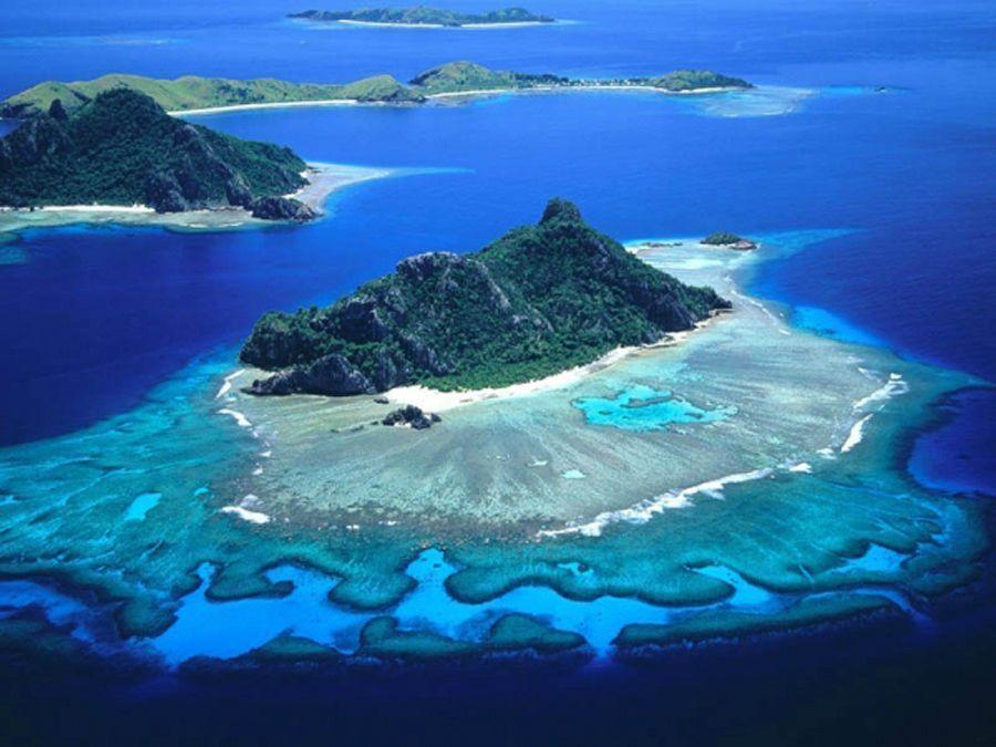 Île de Mamanuca appartenant aux Fidji, océan Pacifique