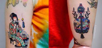 Les tatouages ravissants de la Coréenne Jury célèbrent les femmes