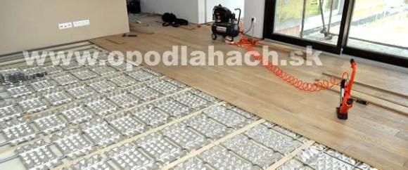 sucha skladba podlahy s podlahovým vykurovaním