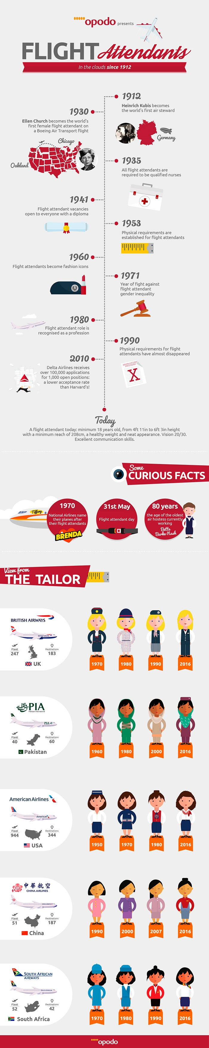Flight attendants infographic