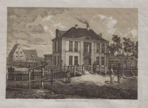 Dworek Uphagena - rycina z 1852 roku