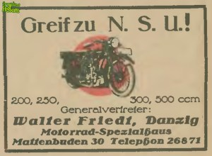 Motocykle NSU z Mattenbuden 30