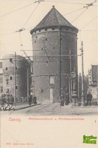 Stągwie Mleczne - front pocztówki z początku XX wieku