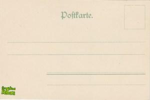 Stągwie Mleczne - tył pocztówki z początku XX wieku