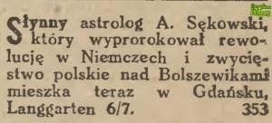 Antoni Sękowski - Langgarten 6/7