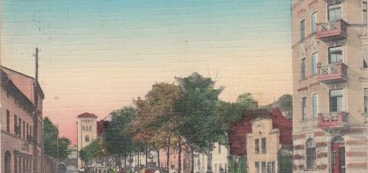 Ulica Szuwary na pocztówce z 1910 roku - front