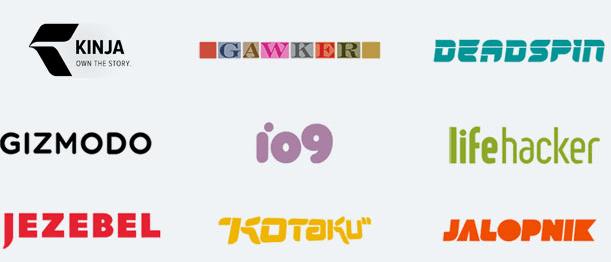 Gráfico: Wawker Media. La empresa controlaba Jezebel (orientado a mujeres), Gizmodo (tecnología) y Jalopnik (motor), entre otros portales.