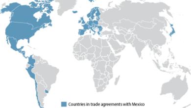 Photo of ¿Cuáles son los 11 TLC que tiene México con 46 países?