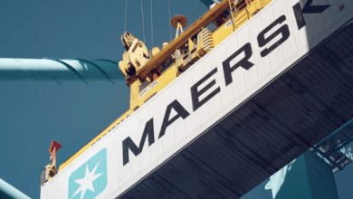 Maersk will move ship calls to a new container terminal in Kalundborg, Denmark, operated by APM Terminals.