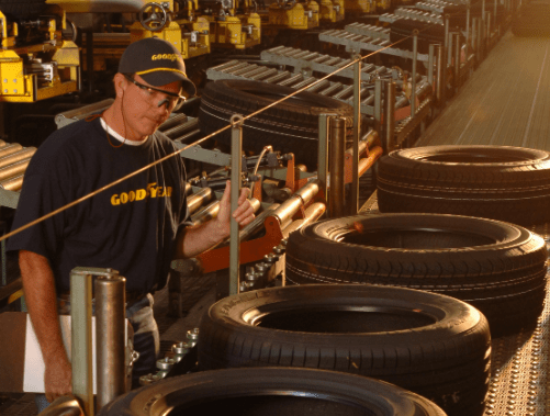 The Goodyear Tire & Rubber Company reported that the capacity utilization rate of its factories decreased globally.