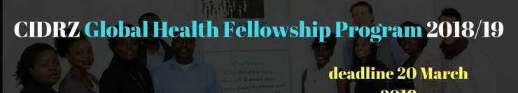 CIDRZ Global Health Fellowship Program Opportunity 20182F19 300x150 - CIDRZ Global Health Fellowship Program 2018/19