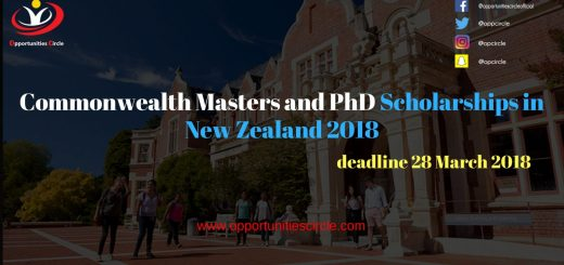 Commonwealth Masters and PhD Scholarships in New Zealand 2018