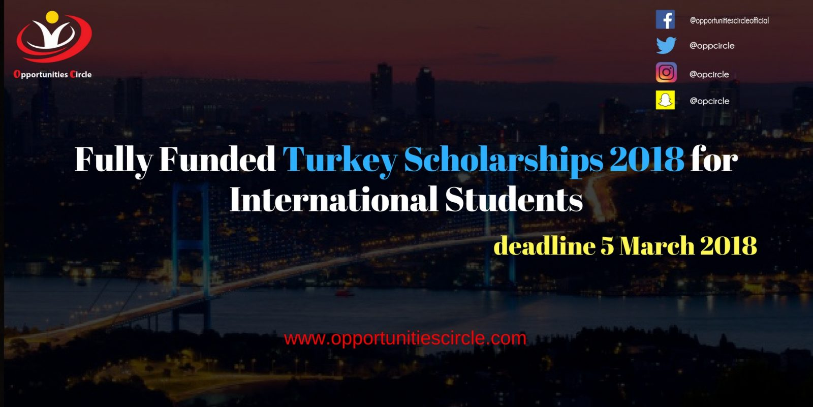 Fully Funded Turkey Scholarships 2018 for International Students - Fully Funded Turkey Scholarships 2018 for International Students