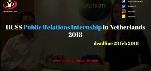HCSS Public Relations Internship in Netherlands 2018