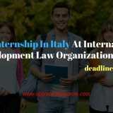 Paid Internship In Italy At International Development Law Organization 2018