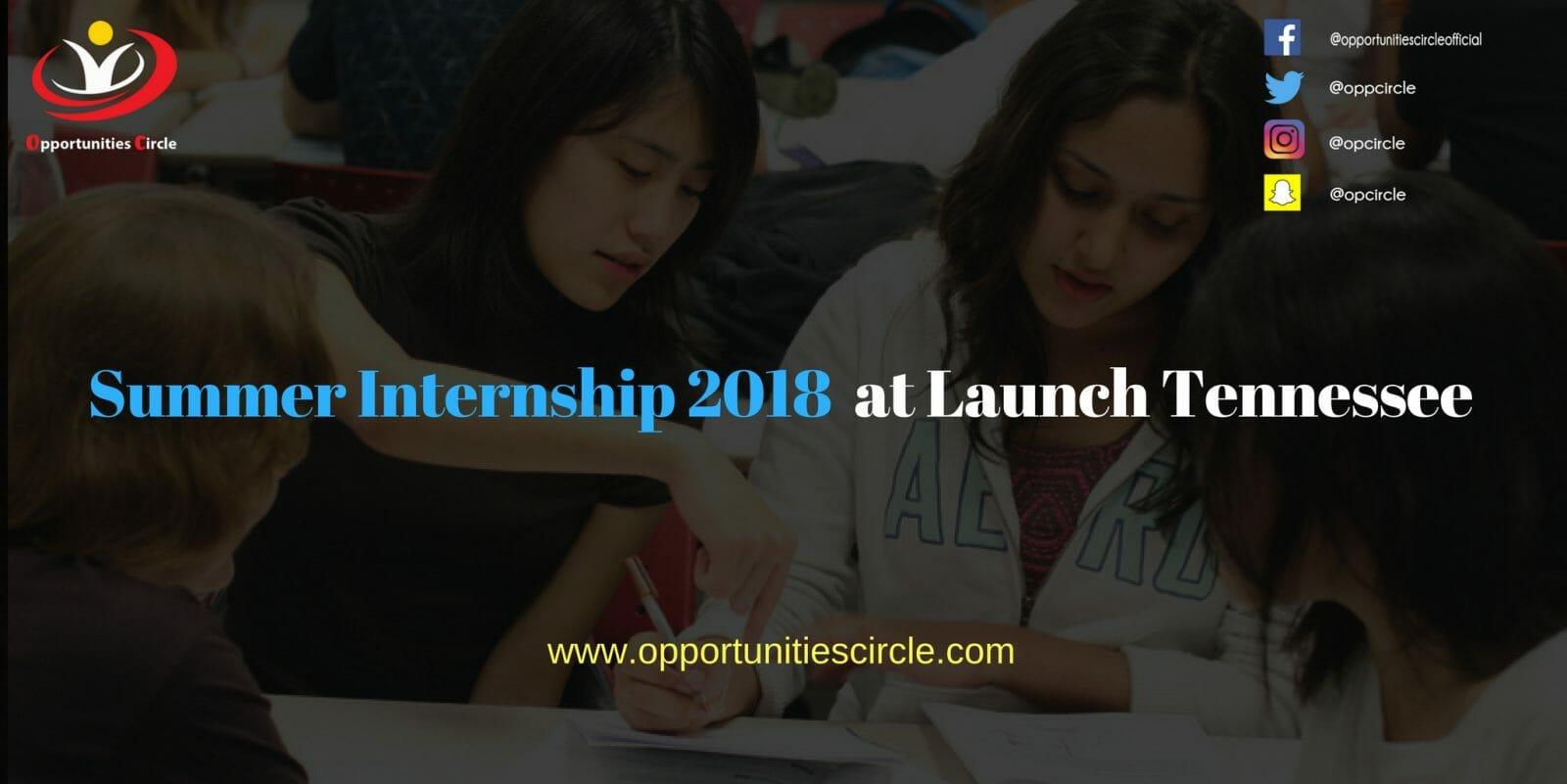 Summer Internship 2018 at Launch Tennessee - Summer Internship 2018  at Launch Tennessee