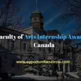 McGill Faculty of Arts Internship Awards 2018 in Canada