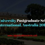 Adelaide University Postgraduate Scholarships International