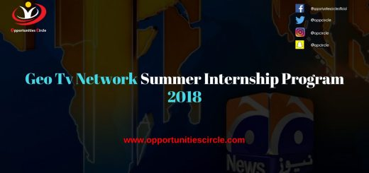 Geo Tv Network Summer Internship