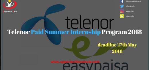 Telenor Paid Summer Internship Program 2018 (1)