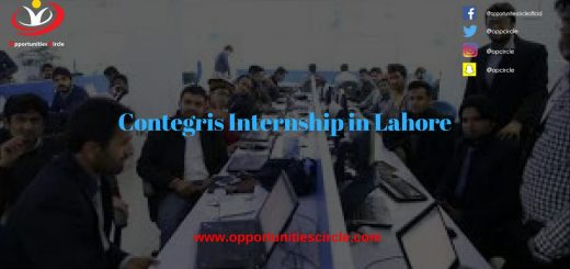 Contegris Internship in Lahore