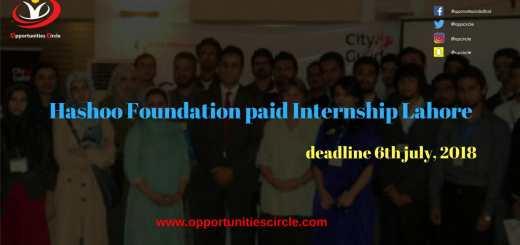 Hashoo Foundation Internship
