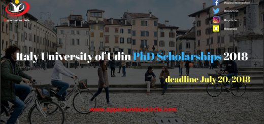 Italy University of Udin PhD Scholarships 2018