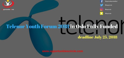 Telenor Youth Forum 2018 in Oslo Fully Funded