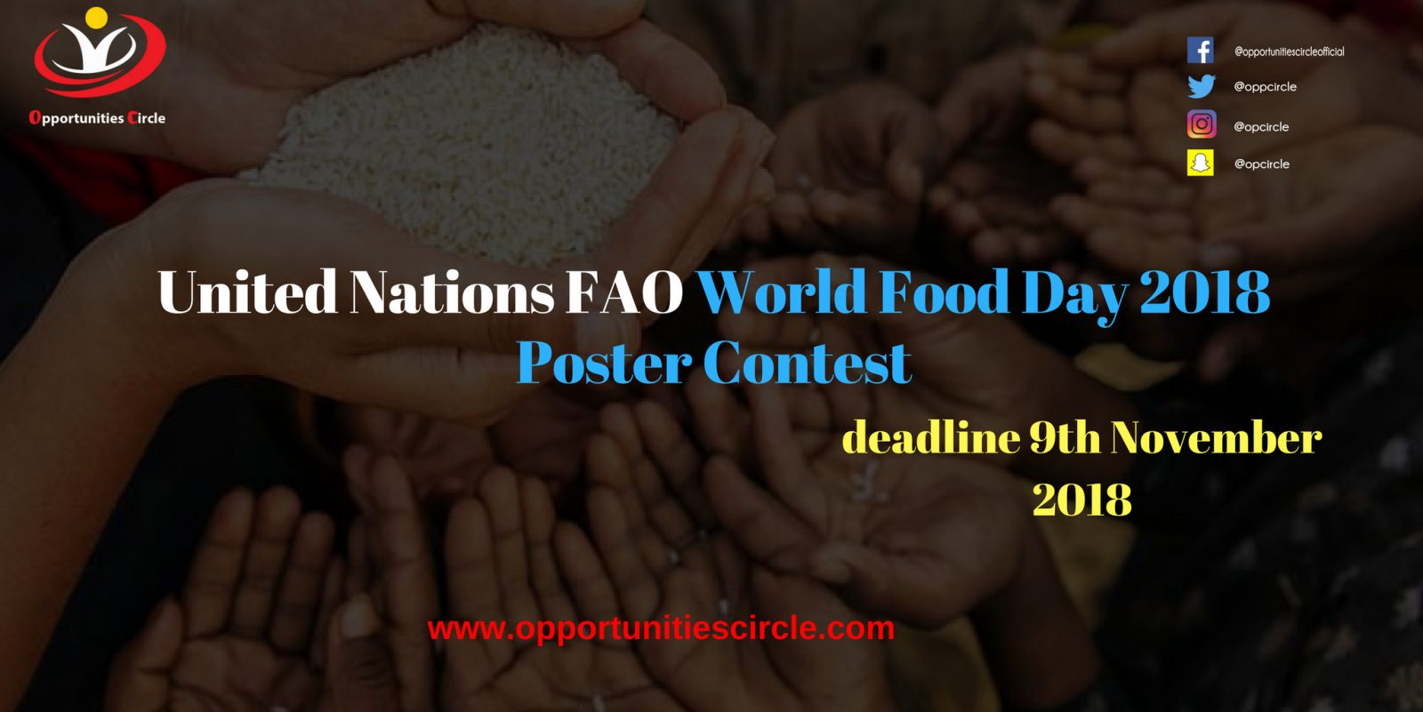 World Food Day Poster Contest 2018 - United Nations FAO World Food Day 2018 Poster Contest