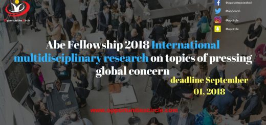 Abe Fellowship 2018 International multidisciplinary research on topics of pressing global concern