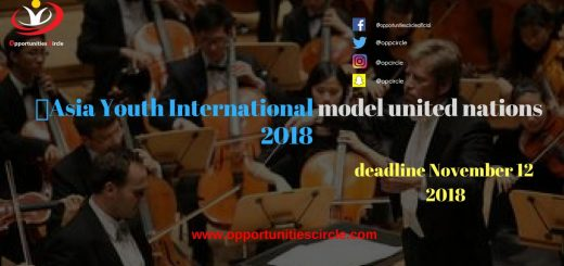 Asia Youth International model united nations 2018 - Asia Youth International model united nations 2018 (Call for applications)