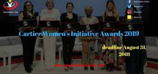 Cartier Women's Initiative Awards 2019
