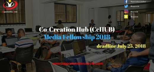 Co Creation Hub CcHUB Media Fellowship 2018 1 - Co-Creation Hub (CcHUB) Media Fellowship 2018