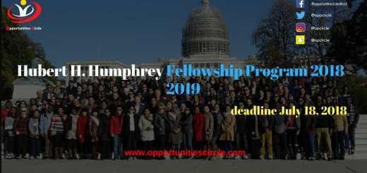 Hubert H. Humphrey Fellowship Program 2018-2019