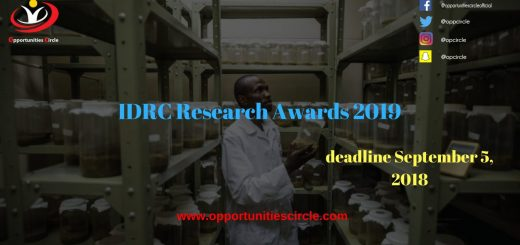 IDRC Research Awards 2019