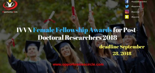 IVVN Female Fellowship Awards for Post-Doctoral Researchers 2018